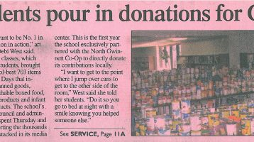 North student pour in donations for Great Days