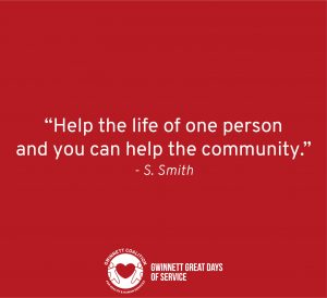 """Help the life of one person and you can help the community."" - S. Smith"